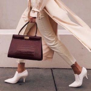 🤩 NEW Tory Burch Leather Georgina White Booties